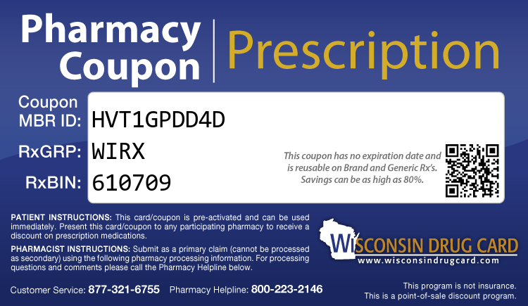 Wisconsin Drug Card - Free Prescription Drug Coupon Card